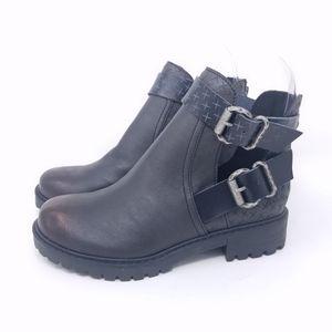 Blowfish Malibu Ankle Boots SZ 6 Black Cutouts